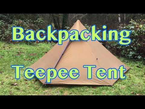 Hexpeak Teepee (2-Person) Trekking Pole Tent Review | Rain Camp