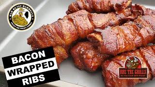 Bacon Wrapped Spare Ribs On A Pellet Smoker (REC TEC 700)