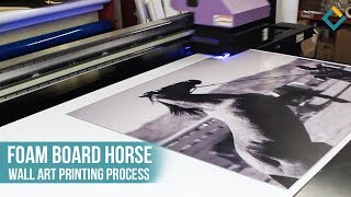 Horse Wall Art: Photo Mounting – UV Printing Process on Foam board
