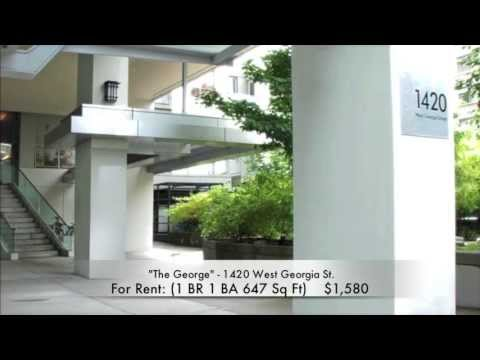 For Rent in Downtown Vancouver - Unfurnished 1 Bedroom + Den ($1,580)