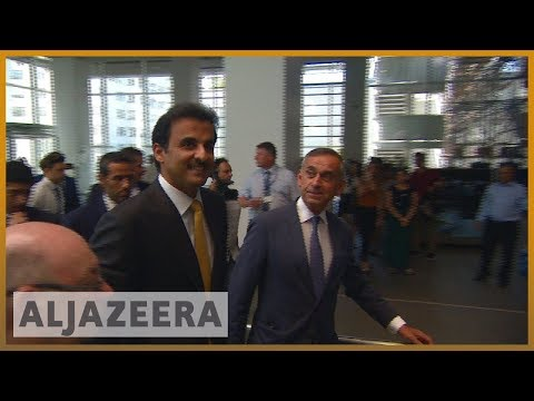 🇶🇦 🇬🇧 Qatari emir visits London to rally international support