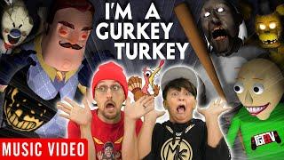 FGTEEV 🎵 I'M A GURKEY TURKEY feat. Mike, Bendy, Baldi, Granny & Neighbor [Official Music Video]