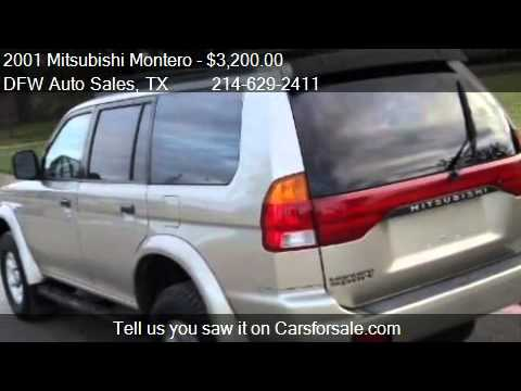 2001 Mitsubishi Montero XLS SPORTS - for sale in Irving, TX