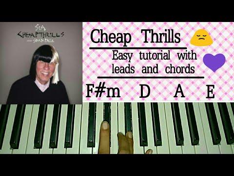 Sia - Cheap Thrills Ft. Sean Paul - Easy Piano Tutorial