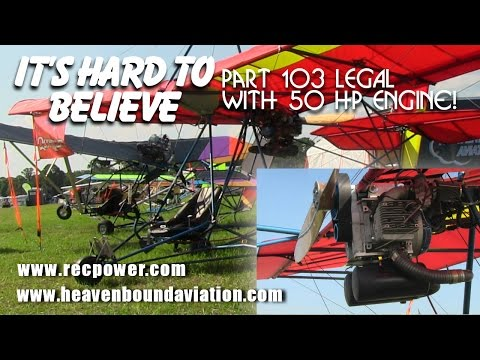 Quicksilver MX 103 with Hirth F23, 50 HP engine, legal part 103 ultralight aircraft!