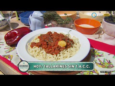 Fideos sin TACC con bolognesa