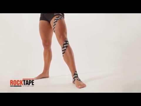 RockTape - Тейпирование мышц ноги спиральным способом
