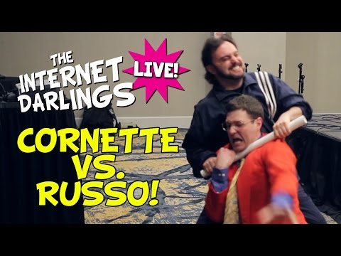 VINCE RUSSO VS  JIM CORNETTE! | INTERNET DARLINGS LIVE WRESTLEMANIA 33 WEEKEND