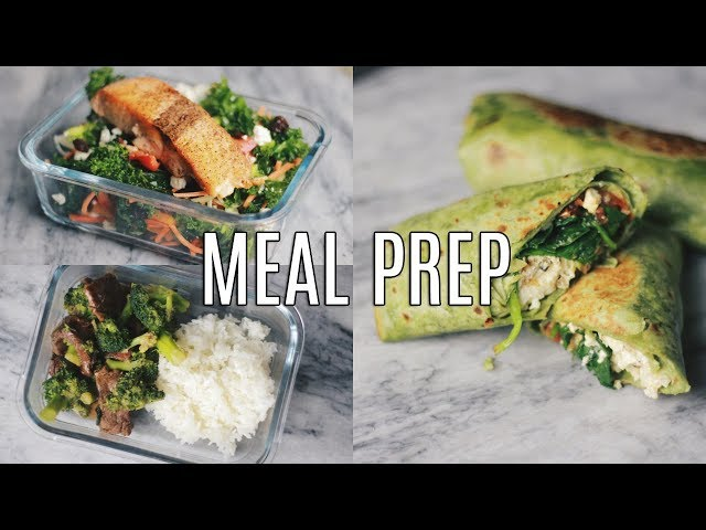 3 Easy and Flavorful Meal Prep Ideas | Breakfast, Lunch & Dinner