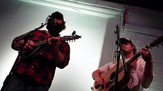 """Jonny Miller & Miles Perry playing """"Greenville Trestle High"""" (Doc Watson cover) at Stem on 6/7/2018"""