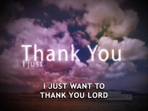 Thank You Lord - Youtube Lyric Video