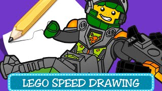 Speed Drawing - Coloring Pages / Disegni da Colorare - LEGO Nexo Knights - Aaron