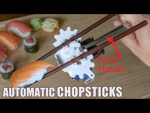 William Osman builds automatic chopsticks for his trip to Japan