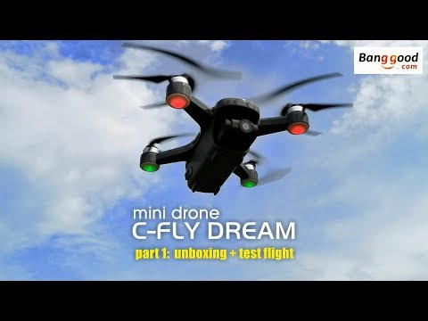 C-FLY DREAM mini drone. Part 1: unboxing & test flight