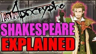 Caster Of Red: SHAKESPEARE Explained - Fate Apocrypha | Past & Abilites / Noble Phantasm