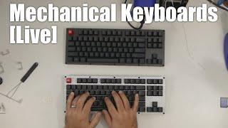 Livestream - just building some Carbon Fiber mechanical keyboards