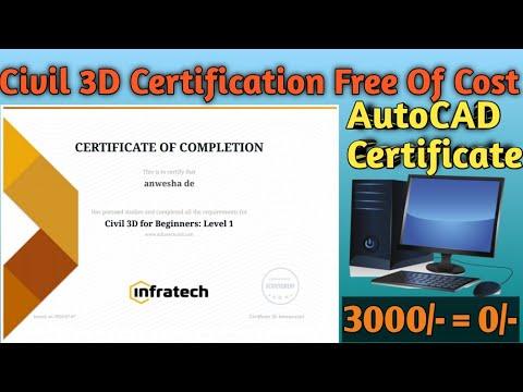 Online Civil Engineering-AutoCAD Certificate | Civil 3D Certification ...