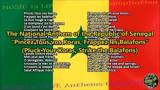 Senegal National Anthem with music, vocal and lyrics French w/English Translation