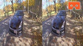 Nissan GT-R Black Edition - Смотреть в VR очках VR Video (Google Cardboard, Oculus Rift, VR Box 3D)