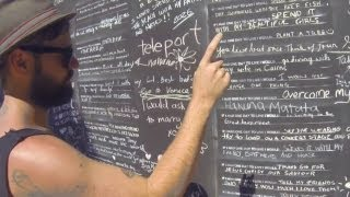 Through a giant public chalkboard art piece, Drew and his mates ask Cairns locals one question -- If they had one day, what would they do? Then they pick the best three and go off and do them at Pyramid Mountain, Mossman Gorge, and the gorgeous Mareeba wetlands.
