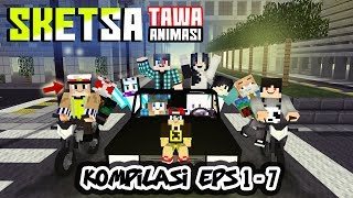 KOMPILASI! Sketsa tawa 4Brother Ft.Anited (Animasi Minecraft Indonesia)