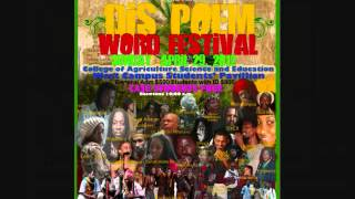 'Dis Poem Word Festival' 2012. College of Agriculture Science & Education, Jamaicaa