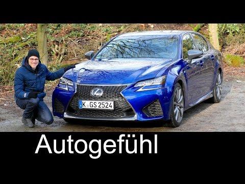 Lexus GS F V8 FULL REVIEW test driven Autobahn Sound & Acceleration 2017 - Autogefühl