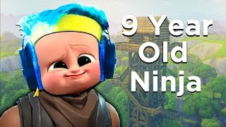 9 Year Old Ninja on Fortnite! - Fortnite Battle Royale