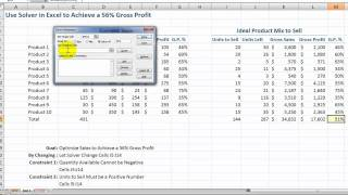 How to Use the Solver Tool in Excel