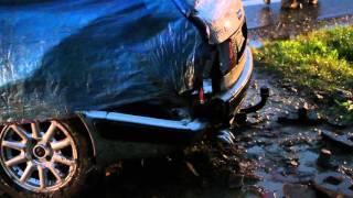 Zboiska - Audi wjechało do rowu
