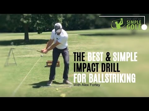 Golf Impact   Best Ballstriking With Pre Set Impact Drill