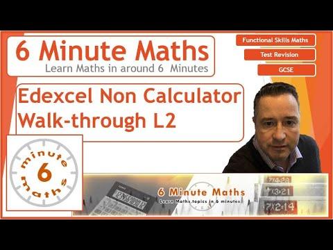 New Functional skills L2 NON calculator Paper walk through #functional skills