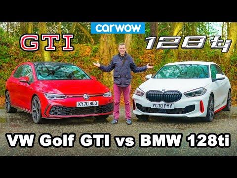 BMW 128ti v VW Golf GTI - review & 0-60mph, 1/4-mile and brake comparison!