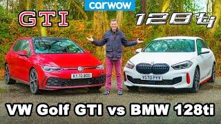[carwow] BMW 128ti v VW Golf GTI - review & 0-60mph, 1/4-mile and brake comparison!
