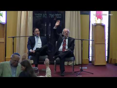 Adam Milstein and Rabbi Feinstein at VBS: 3/16/2019