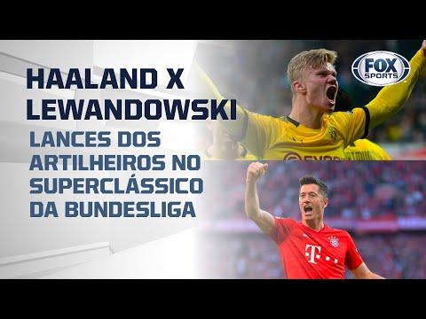 HAALAND X LEWANDOWSKI: lances dos artilheiros no superclássico da Bundesliga