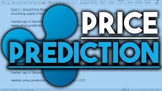RIPPLE (XRP) REALISTIC END OF YEAR PRICE PREDICTION!