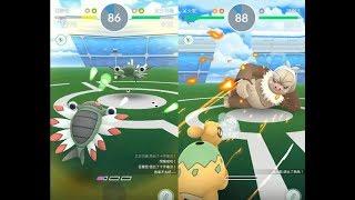 【Pokemon GO】第三代稀有寶可夢太古羽蟲道館對戰與收服咕妞妞 呆火駝 刺球仙人掌 可多拉! [精靈寶可夢GO]