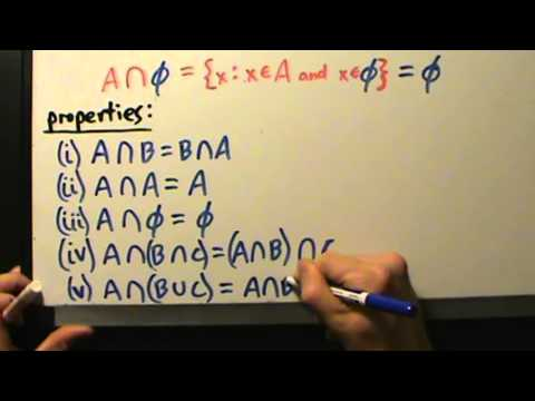 Video Intermediate Algebra - Set Intersections - Definition, Properties, 3 Examples