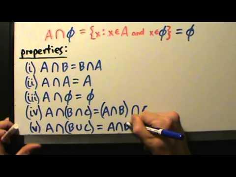 Video Intermediate Algebra - Set Intersections - Definition, Properties, 3 Examples