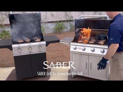 SABER Grill vs Convective Gas Grill - Grill Comparison