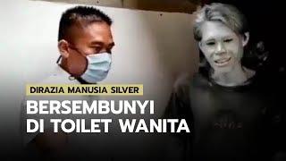 Dirazia Satpol PP dan Dinsos Manusia Silver Bersembunyi di Toilet Wanita