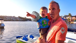 1st Boat Ride at the Lake House!!! Preston Gets Scared!!!