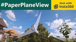 Paper Plane View | Paper Airplane FPV Video with Insta360 One X | Gaba_VR