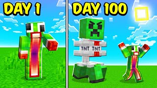 I Survived 100 Days In IMPOSSIBLE Minecraft!