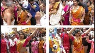 Teenmaar Dance || Jogini Shyamala Teenmaar Dance Steps At Lakshar Bonalu || Hyd
