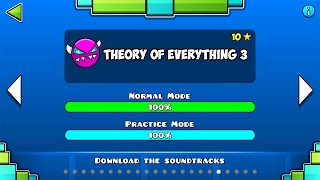 THEORY OF EVERYTHING III - 100% COMPLETE (ALL COINS) GEOMETRY DASH 2.1