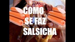 Como se faz salsicha - Veja como é fabricada a salsicha - Dublado portugues