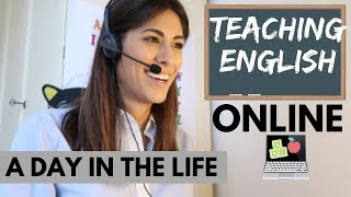 1ST DAY TEACHING ENGLISH ONLINE | VLOG (sott ita)