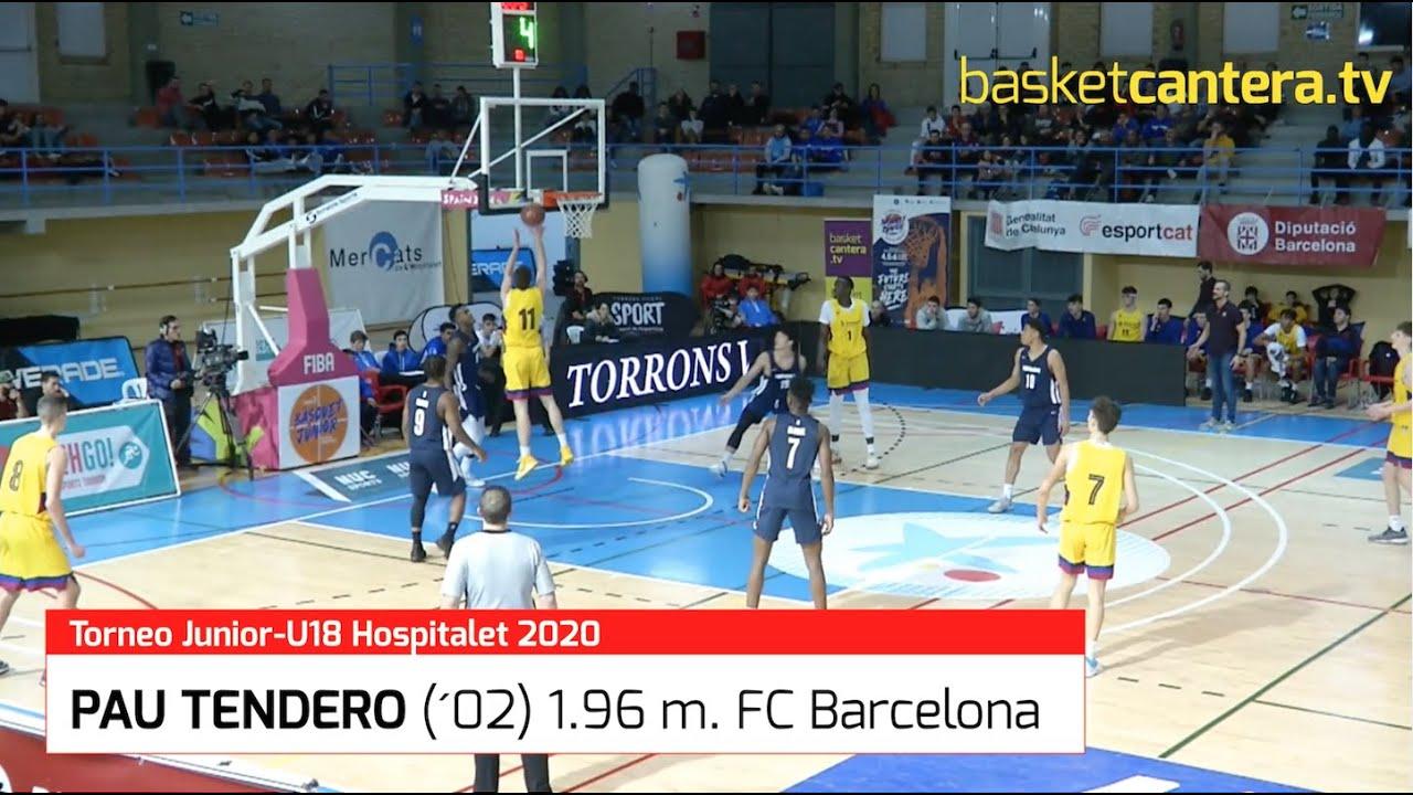 PAU TENDERO (´02) 1.96 m. FC Barcelona.- Torneo Internacional U18M L´Hospitalet (BasketCantera.TV)